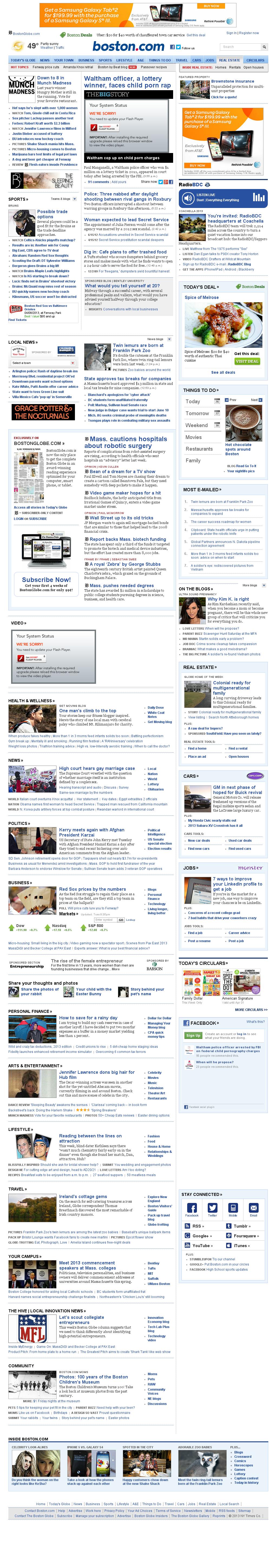 Boston.com at Tuesday March 26, 2013, 10:04 p.m. UTC
