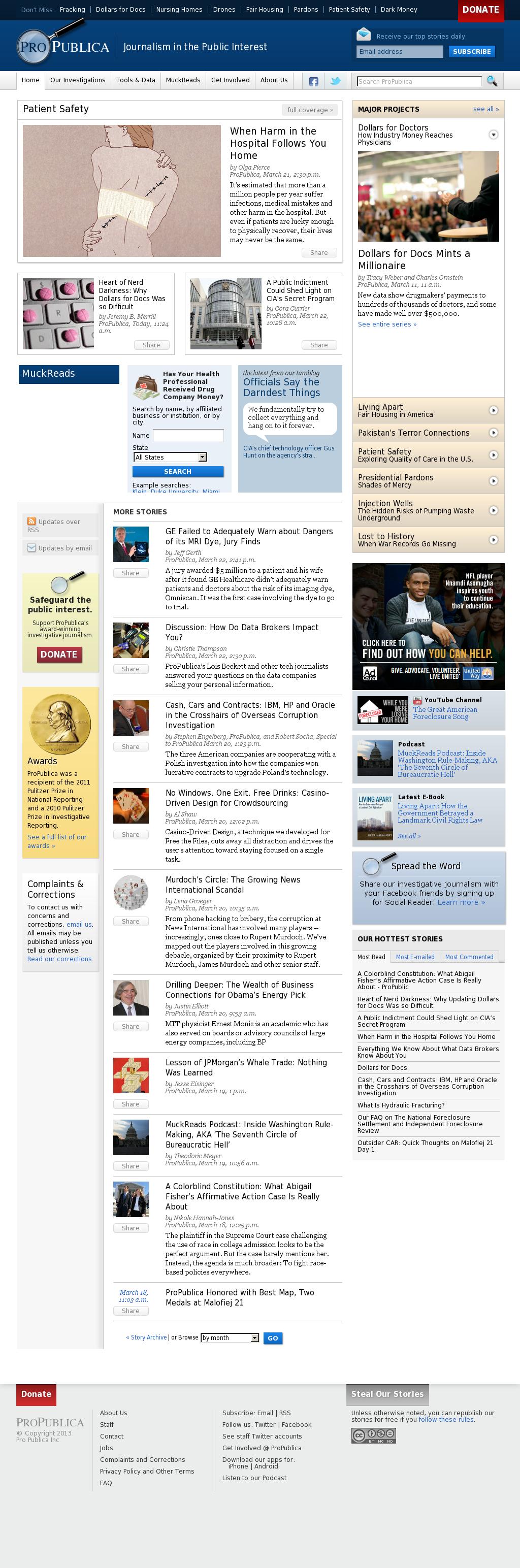 ProPublica at Monday March 25, 2013, 7:35 p.m. UTC