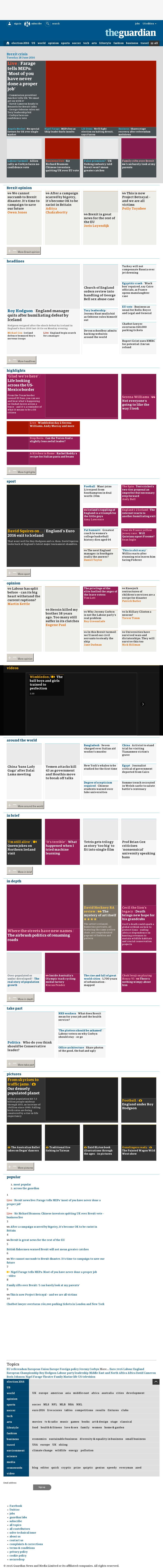 The Guardian at Tuesday June 28, 2016, 12:08 p.m. UTC