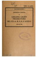 Cover of: Ceiling Light Projectors ML-121-A, B, C, E, F And G